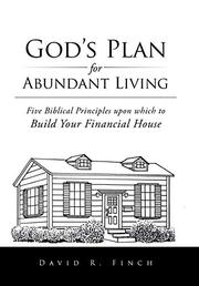 GOD'S PLAN FOR ABUNDANT LIVING by David R. Finch