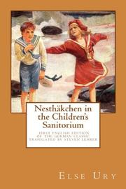 Nesthäkchen in the Childrens Sanitorium by Else Ury
