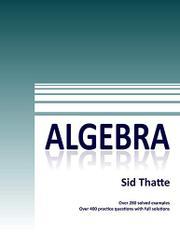 ALGEBRA by Sid Thatte