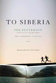 Cover art for TO SIBERIA