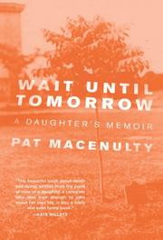 Cover art for WAIT UNTIL TOMORROW