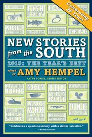 NEW STORIES FROM THE SOUTH by Amy Hempel