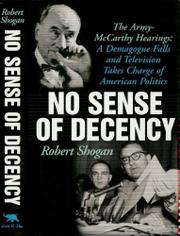Book Cover for NO SENSE OF DECENCY