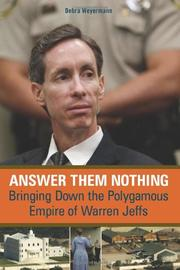 Book Cover for ANSWER THEM NOTHING