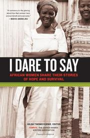 Cover art for I DARE TO SAY