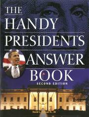 Book Cover for THE HANDY PRESIDENTS ANSWER BOOK