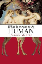 Cover art for WHAT IT MEANS TO BE HUMAN