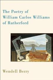 Book Cover for THE POETRY OF WILLIAM CARLOS WILLIAMS OF RUTHERFORD