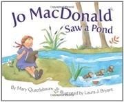 Book Cover for JO MACDONALD SAW A POND