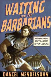 Book Cover for WAITING FOR THE BARBARIANS