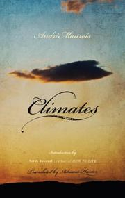 CLIMATES by Andre Maurois
