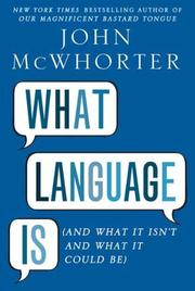Cover art for WHAT LANGUAGE IS