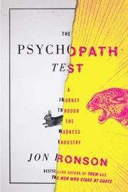 Cover art for THE PSYCHOPATH TEST