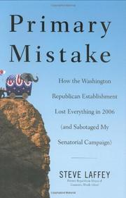 Book Cover for PRIMARY MISTAKE