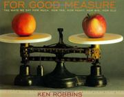 FOR GOOD MEASURE by Ken Robbins
