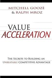 VALUE ACCELERATION by Mitchell and Ralph Mroz Goozé