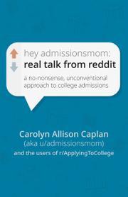 HEY ADMISSIONSMOM by Carolyn Allison Caplan