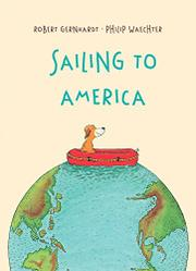 SAILING TO AMERICA by Robert Gernhardt