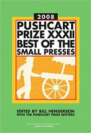 Cover art for THE PUSHCART PRIZE 2008
