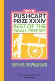 PUSHCART PRIZE XXXIV by Bill Henderson