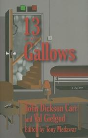Cover art for 13 TO THE GALLOWS