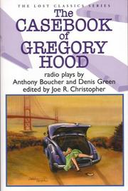 Cover art for THE CASEBOOK OF GREGORY HOOD