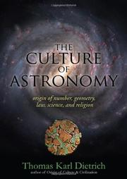 Book Cover for THE CULTURE OF ASTRONOMY