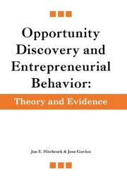 Opportunity Discovery and Entrepreneurial Behavior by Jon E.  Hitchcock