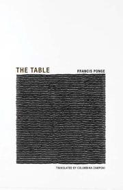 THE TABLE by Francis Ponge
