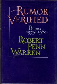 RUMOR VERIFIED POEMS 1979-1980