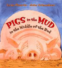 PIGS IN THE MUD IN THE MIDDLE OF THE RUD