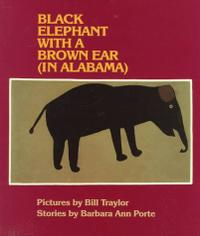 BLACK ELEPHANT WITH A BROWN EAR (IN ALABAMA)