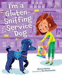 I'M A GLUTEN-SNIFFING SERVICE DOG