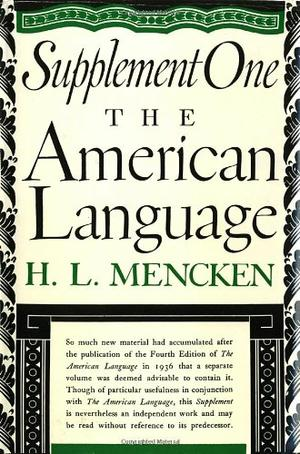 THE AMERICAN LANGUAGE SUPPLEMENT 1