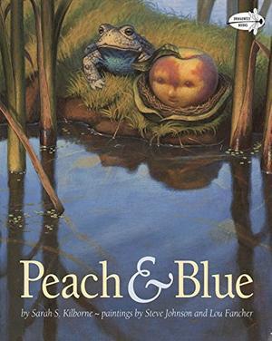 PEACH AND BLUE