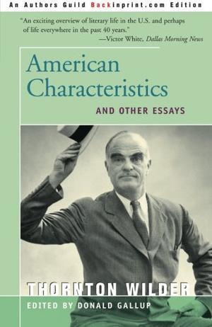 AMERICAN CHARACTERISTICS