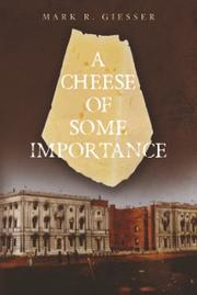 A CHEESE OF SOME IMPORTANCE Cover