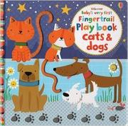 USBORNE BABY'S VERY FIRST PLAYBOOK CATS & DOGS by Fiona Watt
