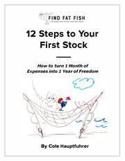 12 STEPS TO YOUR FIRST STOCK by Cole Hauptfuhrer