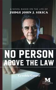NO PERSON ABOVE THE LAW by Cynthia  Cooper